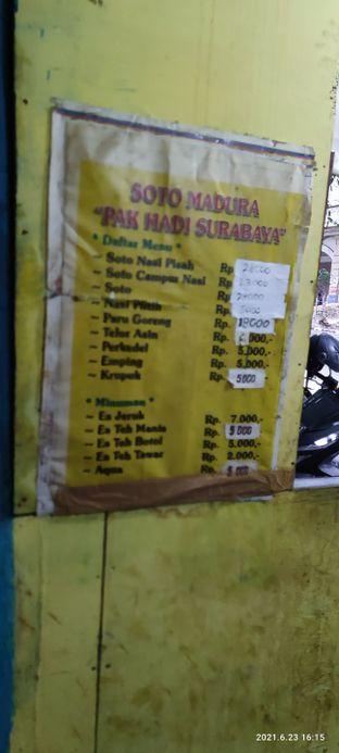 Foto review Soto Madura Pak Hadi Surabaya oleh @duorakuss  2