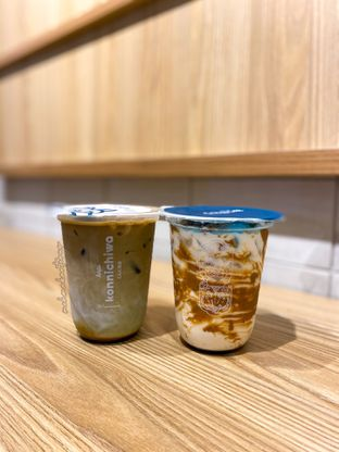 Foto 1 - Makanan(Kamo Latte dan Es Matcha Latte) di Kopi Konnichiwa oleh Femmy Monica Haryanto
