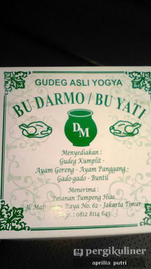 Foto 2 - Makanan di Gudeg Yogya Bu Darmo / Bu Yati oleh Aprilia Putri Zenith