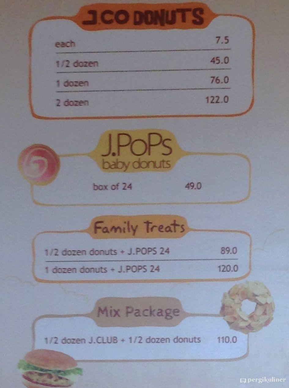 Selalu Diperbarui Menu Jco Donuts Coffee Taman Mini