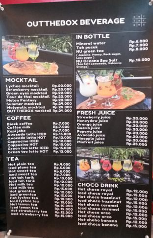 Foto 2 - Menu di Out The Box Beverage oleh Jenny (@cici.adek.kuliner)