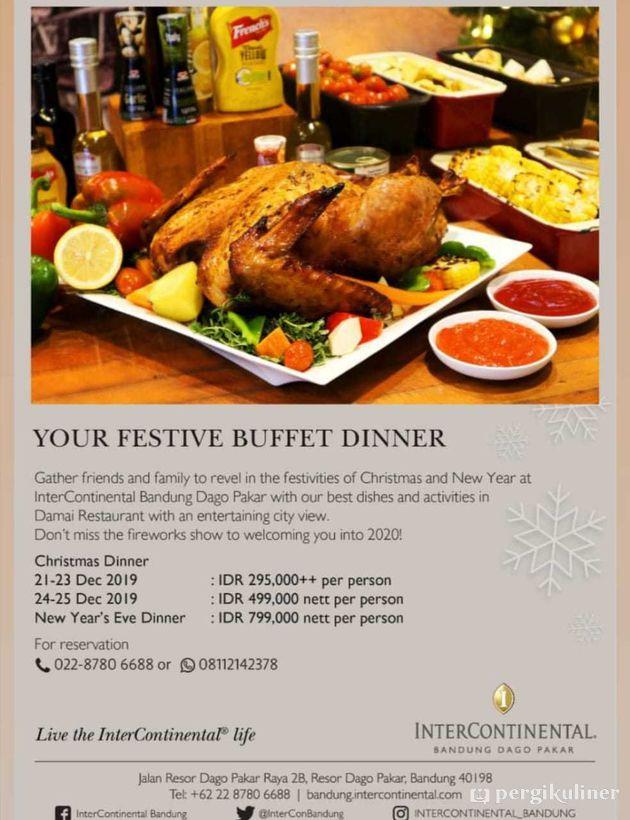 Christmas Buffet Promo Dan Diskon Di Damai Restaurant Hotel Intercontinental Bandung Dago Pakar Dago Atas Bandung