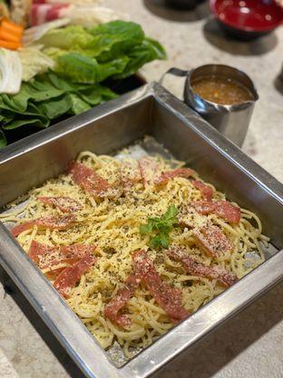 Foto 12 - Makanan(pasta carbonara) di Hattori Shabu - Shabu & Yakiniku oleh Jeljel