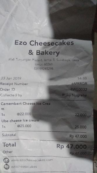 Foto Menu di Ezo Hokkaido Cheesecake & Bakery