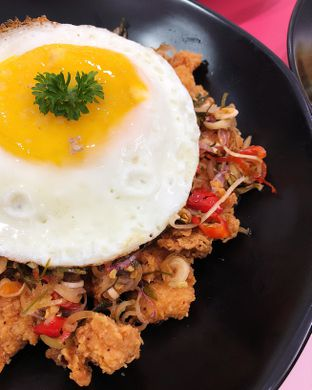 Foto 1 - Makanan(Chicken sambal matah rice bowl) di La Vie Kitchen and Coffee oleh Claudia @claudisfoodjournal