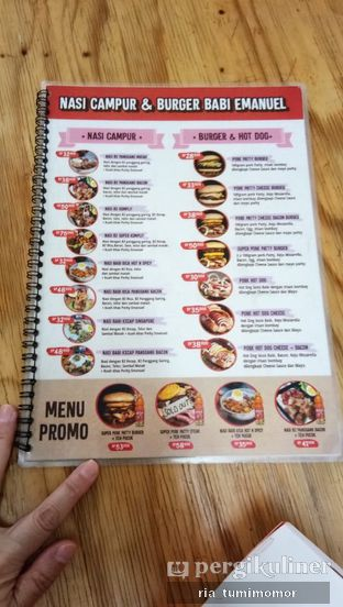 Foto review Nasi Campur & Burger Babi Emanuel oleh Ria Tumimomor IG: @riamrt 1