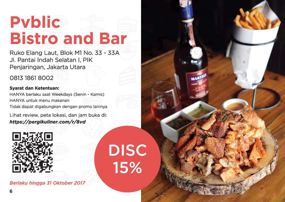 15% - MEMO dari PergiKuliner di Pvblic Bistro and Bar, Pantai Indah Kapuk