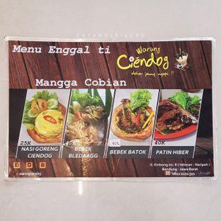 Foto 3 - Menu di Warung Ciendog oleh Eat and Leisure