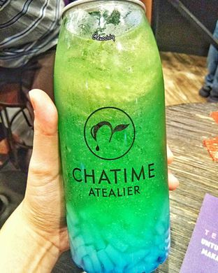 Foto 1 - Makanan(Popcan blue paradise with coconut jelly) di Chatime oleh duocicip
