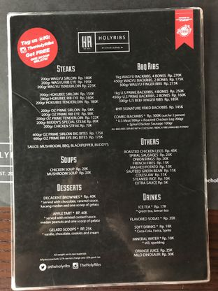 Foto 1 - Menu di The Holyribs oleh Makan2 TV Food & Travel