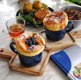 Foto hot vanilla blueberry & hot vanilla manggo di Nosh Kitchen