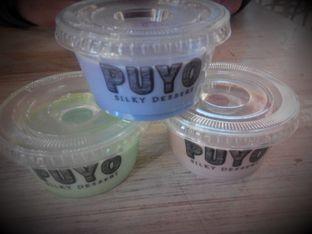 Foto - Makanan(taro, greentea, coklat) di Puyo Silky Desserts oleh Ester A