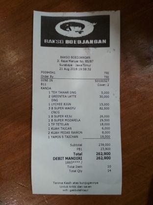 Foto 5 - Menu(Total makanan) di Bakso Boedjangan oleh Yani Kanda