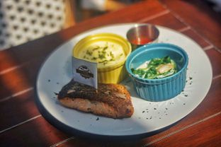 Foto 6 - Makanan(Salmon Steak) di Dandy's Steak and Coffee House oleh Fadhlur Rohman