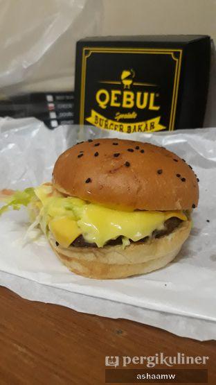 Foto 1 - Makanan(Cheese Burger) di Burger Bakar Qebul oleh Asharee Widodo