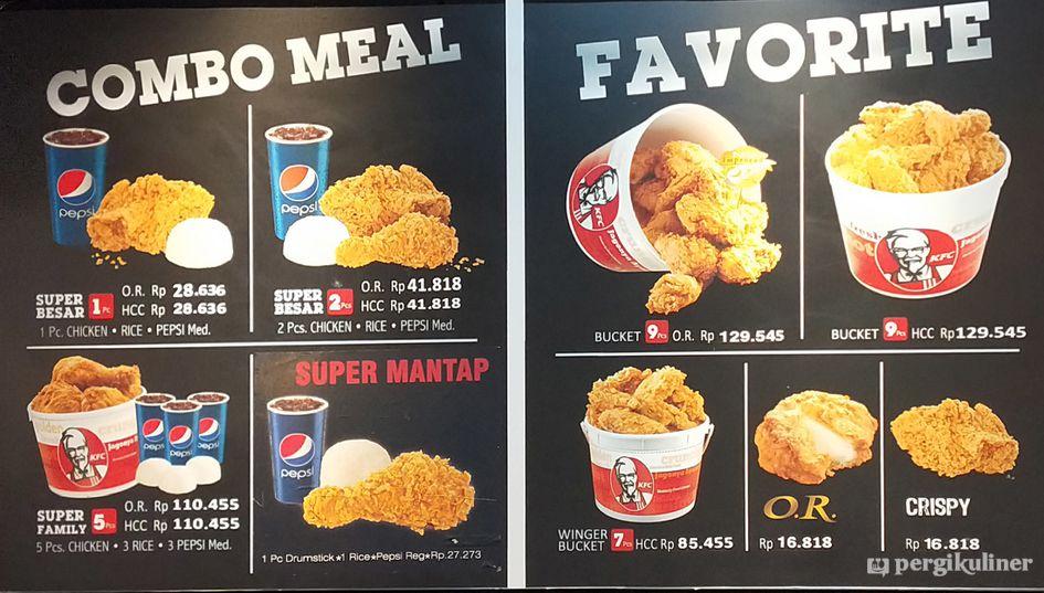 Selalu diperbarui! Menu KFC, Genteng, Surabaya
