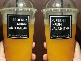 Foto Es Jeruk Murni Anti Galau