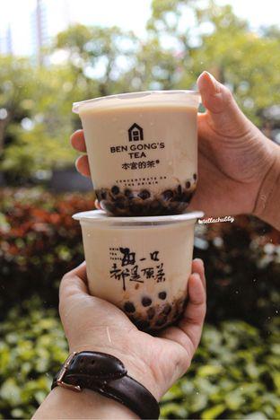 Menu populer Osmanthus milk tea brown sugar pearl