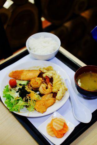 Foto 1 - Makanan(Seafood Teppanyaki Set) di Hanei Sushi oleh Cindy Y