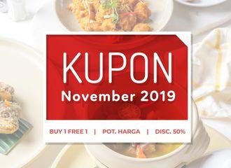 KUPON PergiKuliner Edisi November 2019 Untuk Warga Jakarta