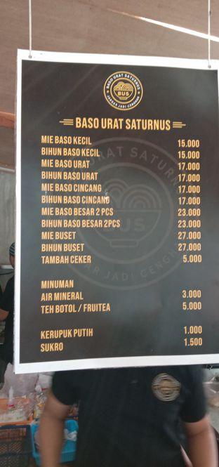 Foto 3 - Menu di Baso Urat Saturnus oleh Kuliner Addict Bandung