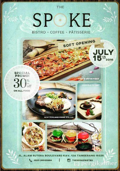 30 All Food Promo Dan Diskon Di The Spoke Bistro Alam