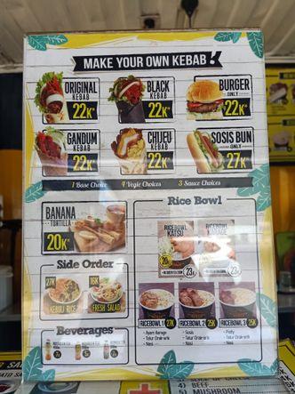 Foto Menu di Container Kebab