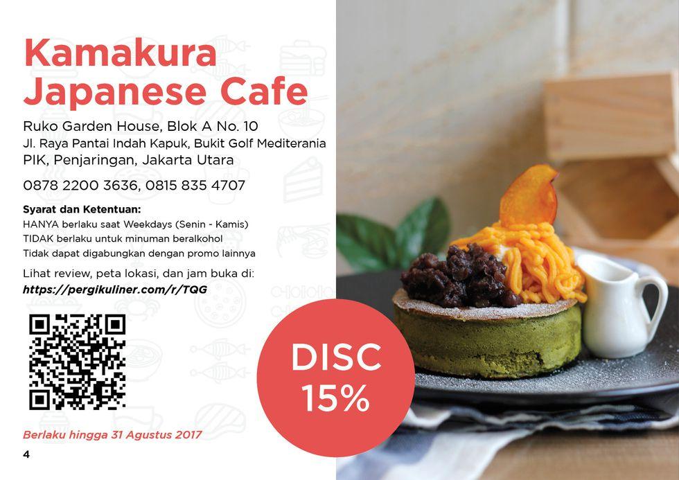 15% - MEMO dari PergiKuliner di Kamakura Japanese Cafe, Pantai Indah Kapuk