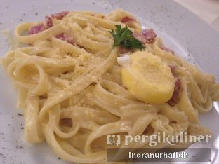 Foto 1 - Makanan(Fettucini Carbonara) di Fish N Chef oleh @bellystories (Indra Nurhafidh)