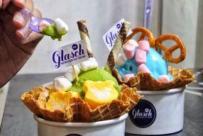 Foto Glasch Nitrogen Ice Cream