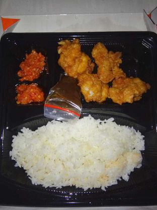 Foto 1 - Makanan(red hot chili tori don) di Yoshinoya oleh duocicip