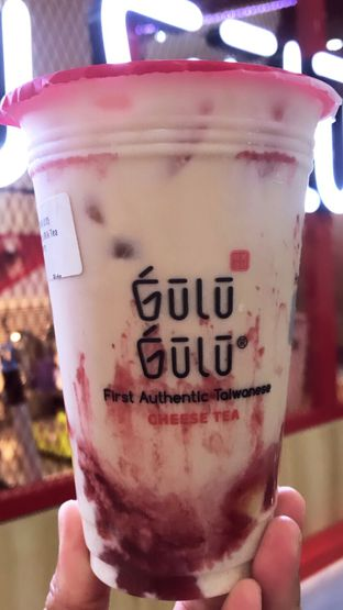 Foto 1 - Makanan(Fruity Mil Tea Strawberry) di Gulu Gulu oleh Riris Hilda