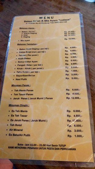 Foto review Bakso So'un & Mie Ayam Lodaya oleh minho  agus 4