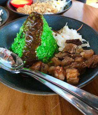 Foto 9 - Makanan(Nasi Furikake + Grilled Beef Belly + Mishroom Sauce) di Rice & Cheese oleh Levina JV (IG : levina_eat )