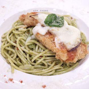 Foto 4 - Makanan(Creamy Chicken Pesto Spaghetti) di Kitchenette oleh dk_chang