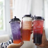 Foto Strawberry Purple Ice Tea. Berries Snow Cheese Tea. TWB Ruby Signature di Thee Huis
