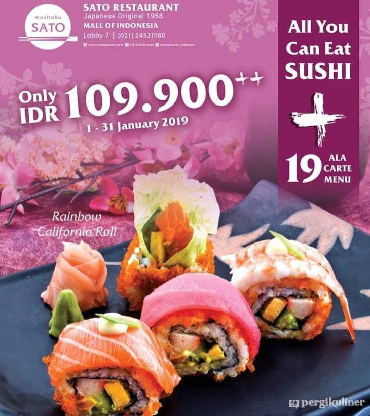 Promo All You Can Eat Sushi Promo Dan Diskon Di Washoku Sato Kelapa Gading
