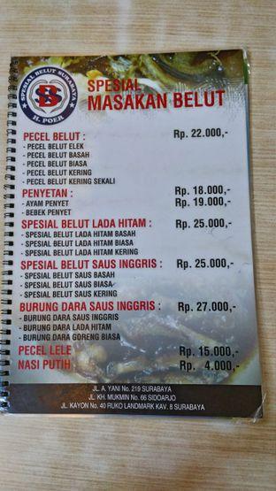 Foto 2 - Menu di Spesial Belut Surabaya H. Poer oleh Oryza Sativa