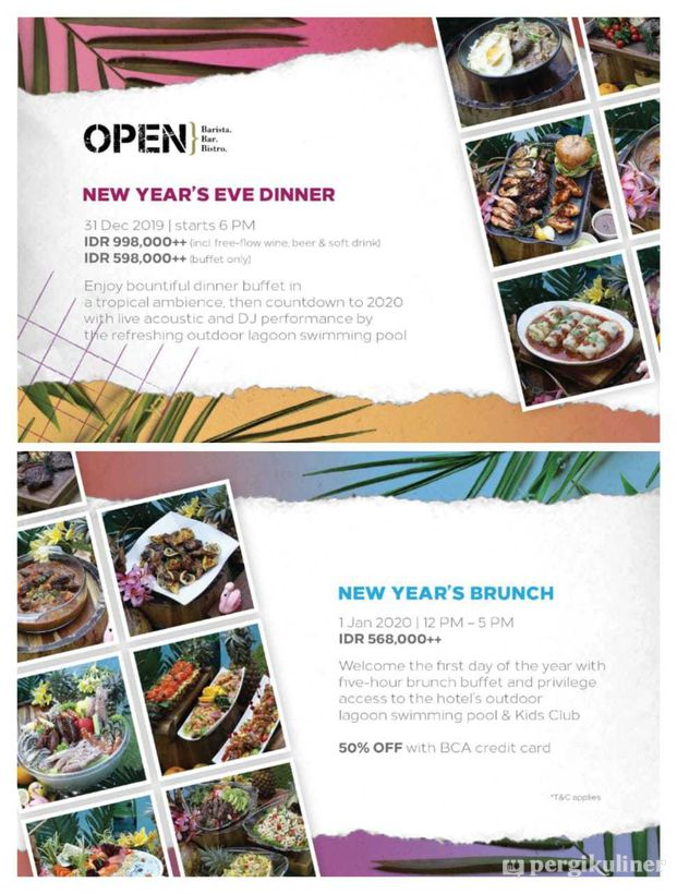 New Year S Buffet Promo Dan Diskon Di Open Restaurant Double Tree By Hilton Hotel Jakarta Cikini