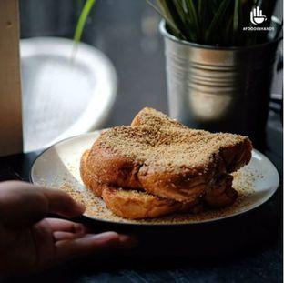 Foto 1 - Makanan(Nougat Toast Coffee Cream From @blackcampaigncoffee) di Black Campaign Coffee oleh Foodinhands Community IG  : @foodinhands