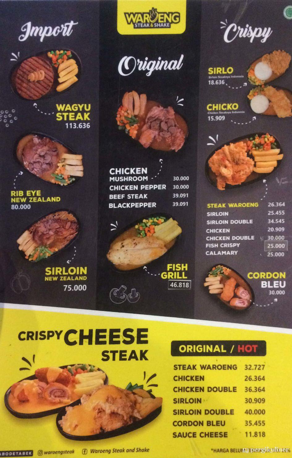 Selalu Diperbarui Menu Waroeng Steak Shake Bogor Timur Bogor