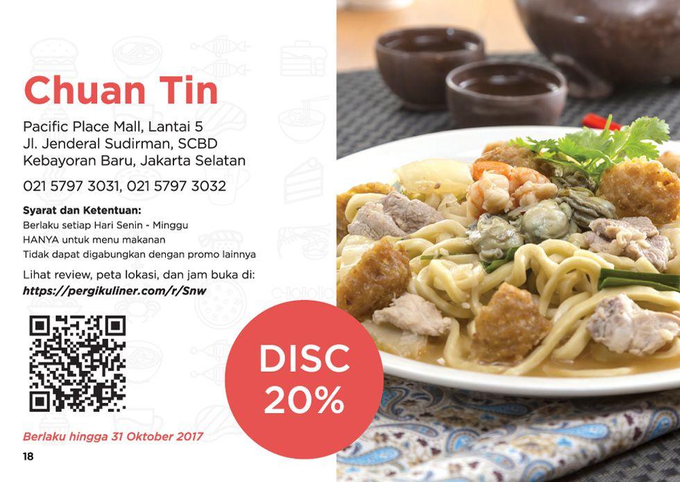 20% - MEMO dari PergiKuliner (Food Only) di Chuan Tin, SCBD