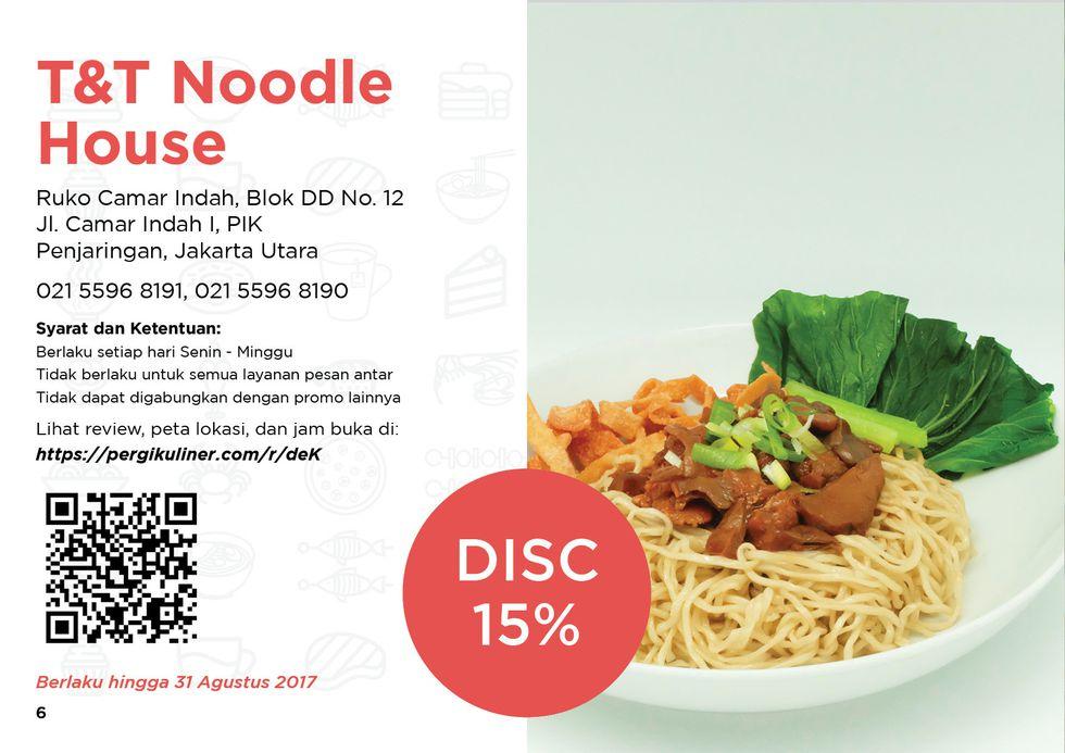 15% - MEMO dari PergiKuliner di T&T Noodle House (Bakmi Camar), Pantai Indah Kapuk