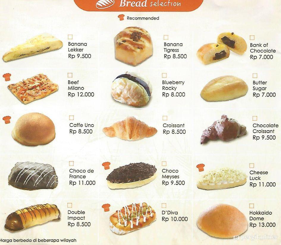 Menu BreadTalk Cibinong Bogor