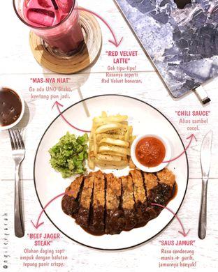Foto 1 - Makanan(Beef Schnitzel Jaeger Sauce) di Kopium Artisan Coffee oleh Ngiler Parah @ngilerparah