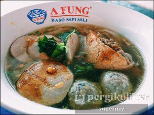 Foto - Makanan(baso kwetiau campur) di A Fung Baso Sapi Asli oleh @supeririy