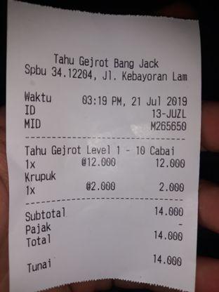 Foto 3 - Menu di Tahu Gejrot Bang Jack oleh Mouthgasm.jkt