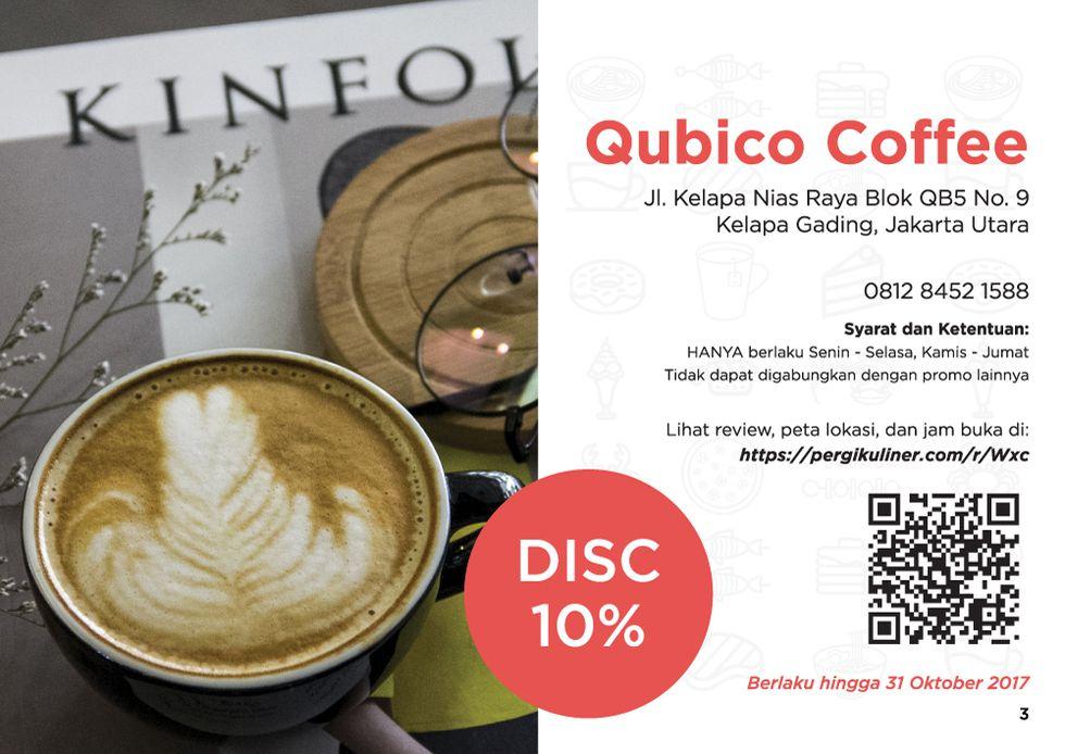 10% - MEMO dari PergiKuliner di Qubico Coffee, Kelapa Gading