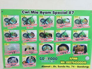 Foto 4 - Menu di Cwie Mie 87 oleh Erlangga Deddyana