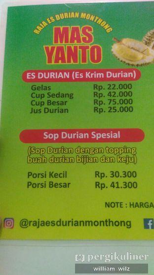 Foto review Raja Es Durian Montong Mas Yanto oleh William Wilz 3